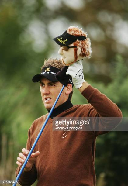 Ian Poulter of England prepares to tee off at the 11th Hole during the First Round of The Alfred Dunhill Links Championship at Kingsbarns Golf Club...