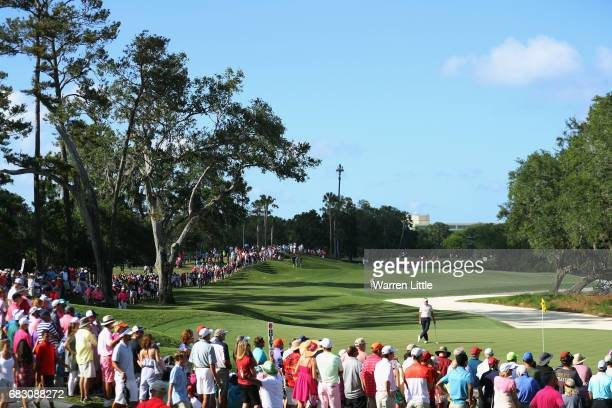 Ian Poulter of England stands on the 14th green during the final round of THE PLAYERS Championship at the Stadium course at TPC Sawgrass on May 14...