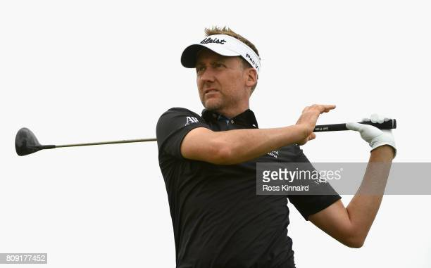 Ian Poulter of England tees off on the 7th during the ProAm of the Dubai Duty Free Irish Open at Portstewart Golf Club on July 5 2017 in Londonderry...