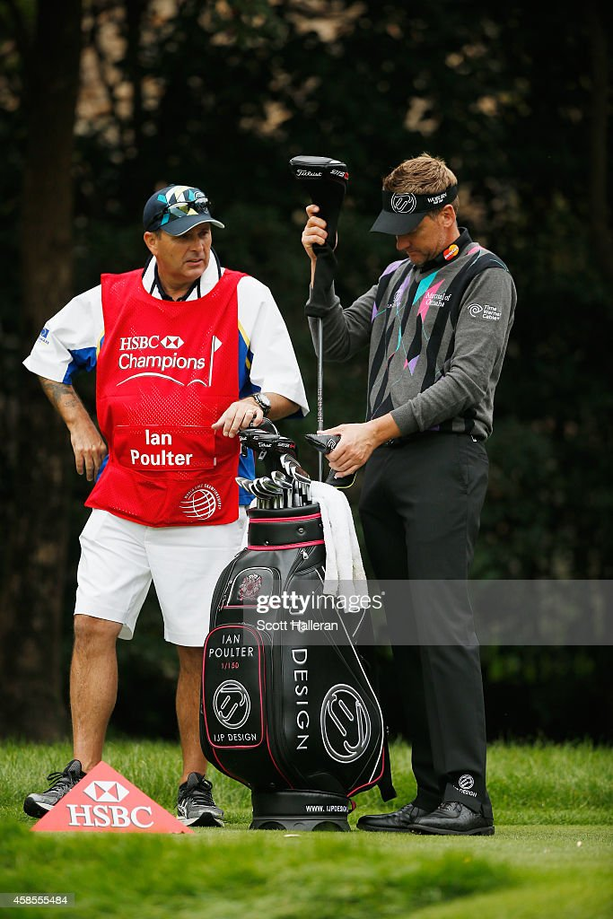 Ian Poulter of England waits on the 16th tee during the second round of the WGC - HSBC Champions at the Sheshan International Golf Club on November 7, 2014 in Shanghai, China.