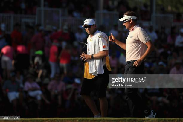 Ian Poulter of England walks from the 17th green during the final round of THE PLAYERS Championship at the Stadium course at TPC Sawgrass on May 14...