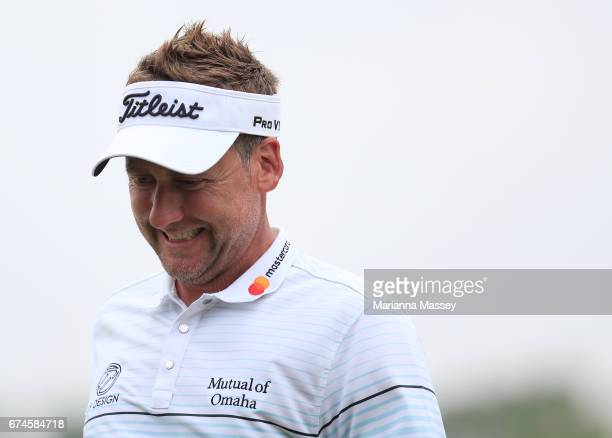 Ian Poulter of England walks on the 18th hole during the second round of the Zurich Classic at TPC Louisiana on April 28 2017 in Avondale Louisiana