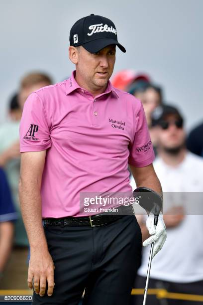 Ian Poulter of England watches his tee shot on the 15th hole during the third round of the 146th Open Championship at Royal Birkdale on July 22 2017...