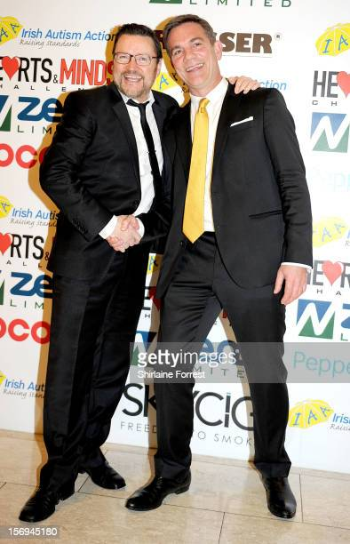 Ian PulestonDavies and John Michie attend the Hearts and Minds charity ball at Hilton Hotel on November 25 2012 in Manchester England