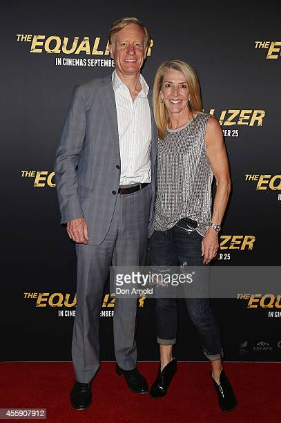 "Ian Purchas and Jane Fleming pose on the red carpet at ""The Equalizer"" Sydney Premiere at Event Cinemas George Street onSeptember 22, 2014 in Sydney,..."