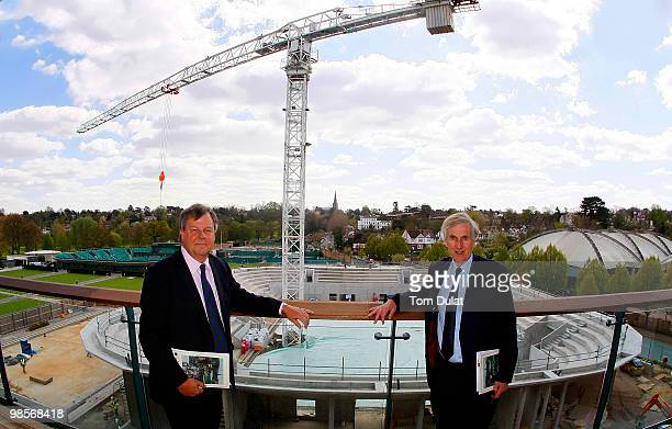 Ian Ritchie, Chief Executive of the All England Lawn Tennis & Croquet Club and Tim Phillips, Chairman of the All England Club and Wimbledon...