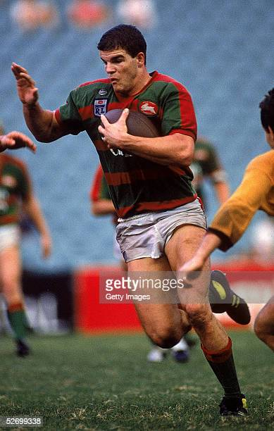 Ian Roberts of the Rabbitohs in action during a NSWRL match between the South Sydney Rabbitohs and the Balmain Tigers held at the Sydney Football...