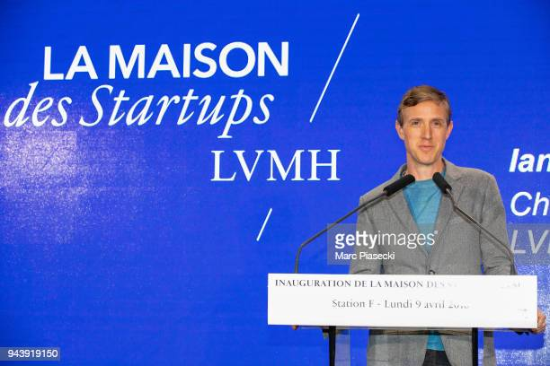 Ian Rogers attends the 'LVMH StartUp Accelerator' opening ceremony at 'Station F' on April 9 2018 in Paris France