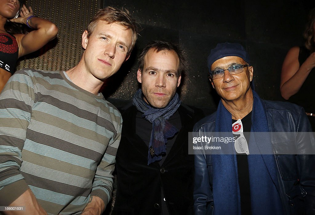 Ian Rogers, CEO of Daisy LLC, Luke Wood, President & Chief Executive Officer of Beats Electronics, and Jimmy Iovine, Interscope Geffen A&M Chairman and Beats Electronics CEO & Co-Founder enjoy the Beats by Dr. Dre CES after-party at Marquee Nightclub at The Cosmopolitan of Las Vegas on January 10, 2013 in Las Vegas, Nevada.