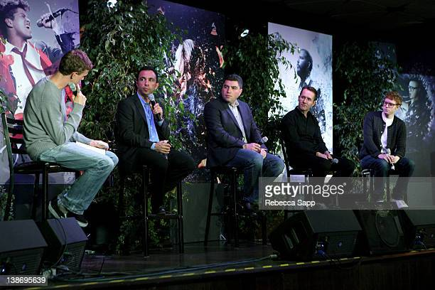 Ian Rogers moderator and CEO of Topspin Seth Goldstein CEO of Turntablefm Alex Iskold CEO of GetGlue Andrew Fisher CEO of Shazam and DA Wallach first...