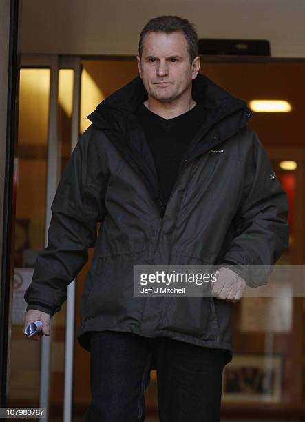 Ian Ross leaves Lanark Sheriff Court after giving evidence at the fatal accident inquiry into the helicopter crash that killed Colin McRae and three...