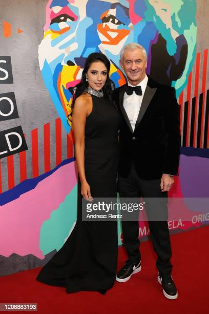 Ian Rush and Carol Anthony on behalf of Laureus World Team of the Year nominee Liverpool FC attend the 2020 Laureus World Sports Awards at Verti...