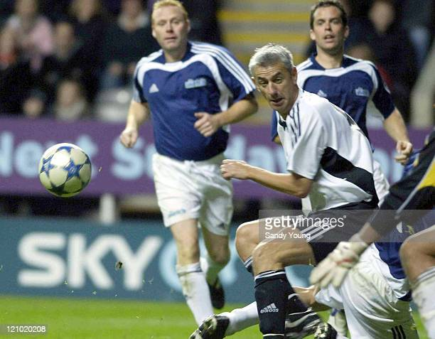 Ian Rush during Sky One's 'The Match' between The Celebrities and The Legends at St James Park in Newcastle Sctoland on October 9 2005