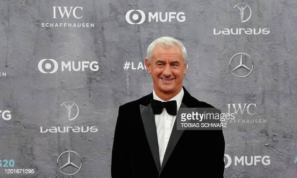 Ian Rush Former Liverpool player and International Academy Ambassador poses on the red carpet prior to the 2020 Laureus World Sports Awards ceremony...