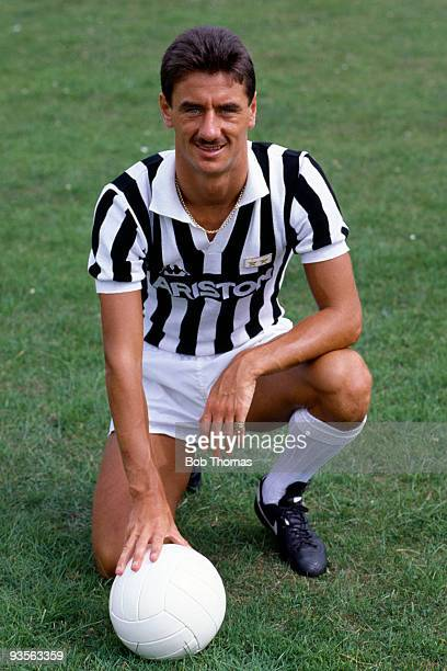 Ian Rush in Juventus FC kit at home near Chester on 15th July 1986