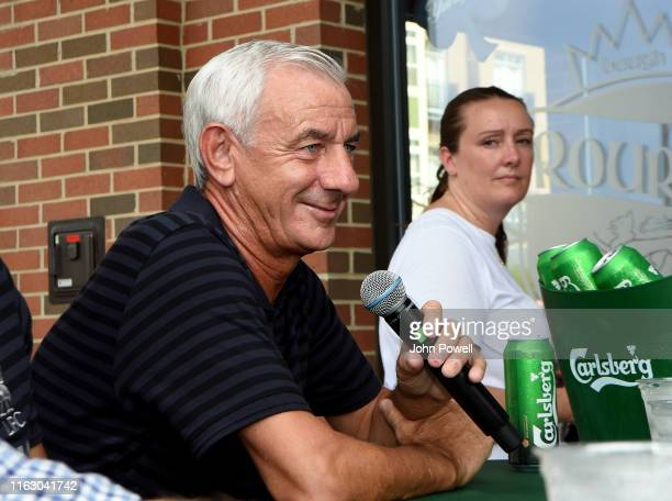 Ian Rush Legend of Liverpool during a meet and greet with Liverpool fans at O'Rourke's on July 19 2019 in South Bend Indiana
