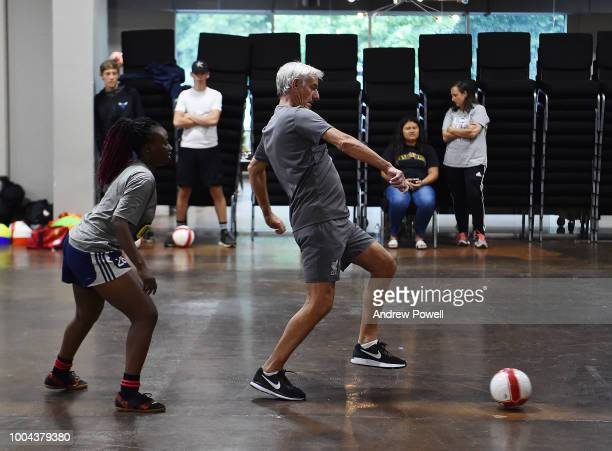 Ian Rush legend of Liverpool during a visit to a Soccer Clinic on July 23 2018 in Charlotte North Carolina