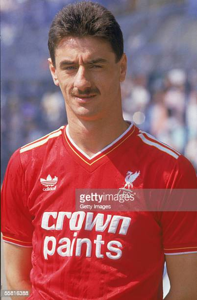 Ian Rush of Liverpool poses before the Football League Division One match between Chelsea and Liverpool held on May 9 1987 at Stamford Bridge in...