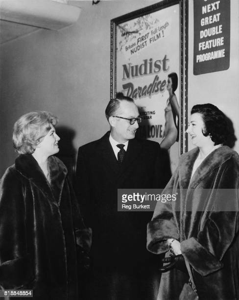 Ian Russell the 13th Duke of Bedford at a private screening of 'Nudist Paradise' at the Cinephone on Oxford Street London with actresses Katy...