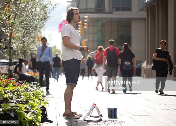Ian Sabourin is a busker who sings opera in Toronto on Bloor Street near Yonge The 19yearold singer is raising money for tuition at the UofT
