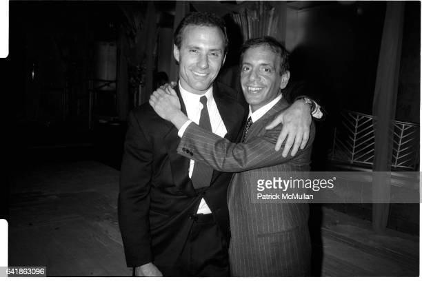 Ian Schrager and Steve Rubell at the bachelor party for Arthur Cohen at the Diamond Horseshoe at the Paramount Hotel Friday May 8 1987