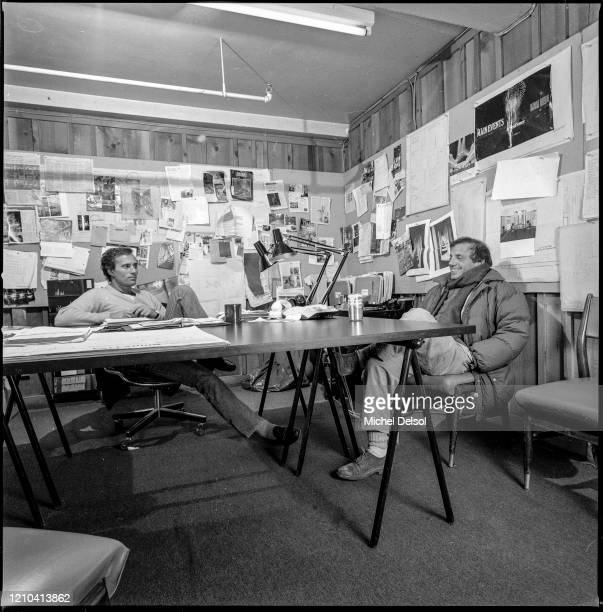 Ian Schrager and Steve Rubell in the offices of the Palladium nightclub five months before its opening The nightclub was designed by Japanese...
