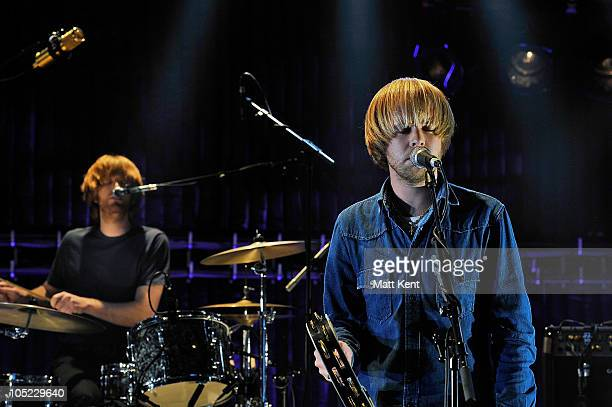 Ian Skelly and James Skelly of The Coral perform at Barclaycard Mercury Prize Session at The Hospital on October 12 2010 in London England