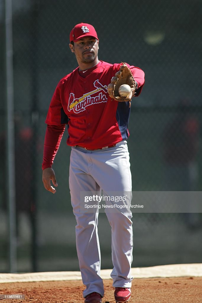Ian Snell of the St. Louis Cardinals catches the ball in a game against the Florida Marlins at Roger Dean Stadium on March 1, 2011 in Jupiter, Florida.