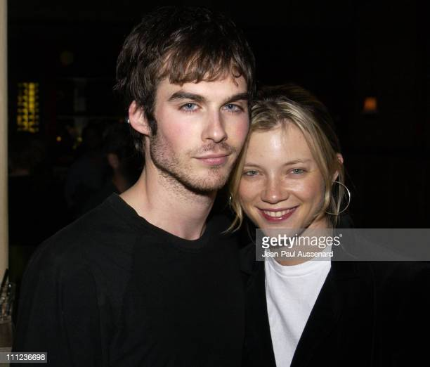 Ian Somerhalder and Amy Smart during Fashion Show and Party at the GQ Lounge at GQ Lounge at White Lotus in Hollywood California United States