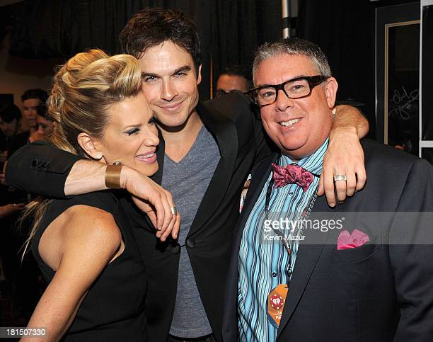 Ian Somerhalder and Elvis Duran attend the iHeartRadio Music Festival at the MGM Grand Garden Arena on September 20 2013 in Las Vegas Nevada