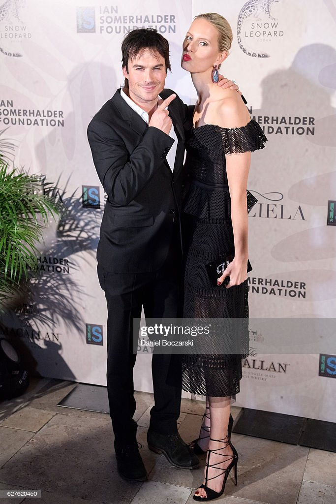 Ian Somerhalder and Karolina Kurkova attend Ian Somerhalder Foundation Benefit Gala at Galleria Marchetti on December 3, 2016 in Chicago, Illinois.