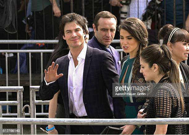 Ian Somerhalder and Nikki Reed are seen at the Film Independent Spirit Awards in Santa Monica on February 27 2016 in Los Angeles California
