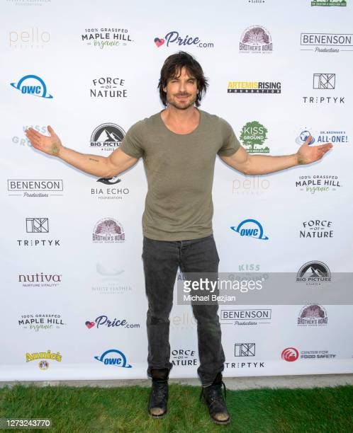 Ian Somerhalder attends Kiss The Ground Los Angeles DriveIn Special Screening at Andaz West Hollywood on September 17 2020 in West Hollywood...