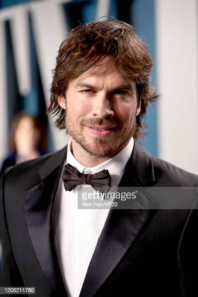 Ian Somerhalder attends the 2020 Vanity Fair Oscar Party hosted by Radhika Jones at Wallis Annenberg Center for the Performing Arts on February 09...