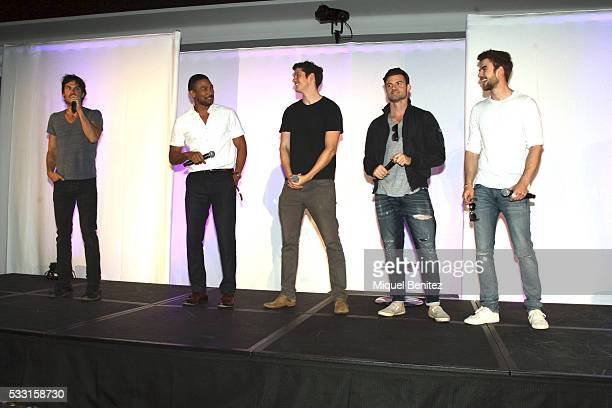 Ian Somerhalder Charles Michael Davis Daniel Sharman Daniel Gillies and Nathaniel Buzolic attend a fan meeting of 'Bloody Night Con 2016' at Barcelo...