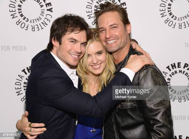 Ian Somerhalder Maggie Grace and Josh Holloway attend The Paley Center For Media's PaleyFest 2014 Honoring 'Lost 10th Anniversary Reunion' at Dolby...