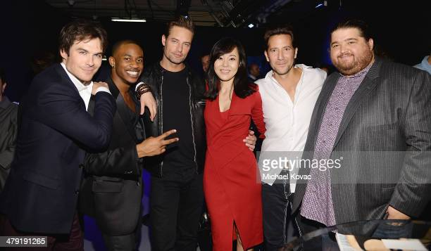 Ian Somerhalder Malcolm David Kelley Josh Holloway Yunjin Kim Henry Ian Cusick and Jorge Garcia attend The Paley Center For Media's PaleyFest 2014...