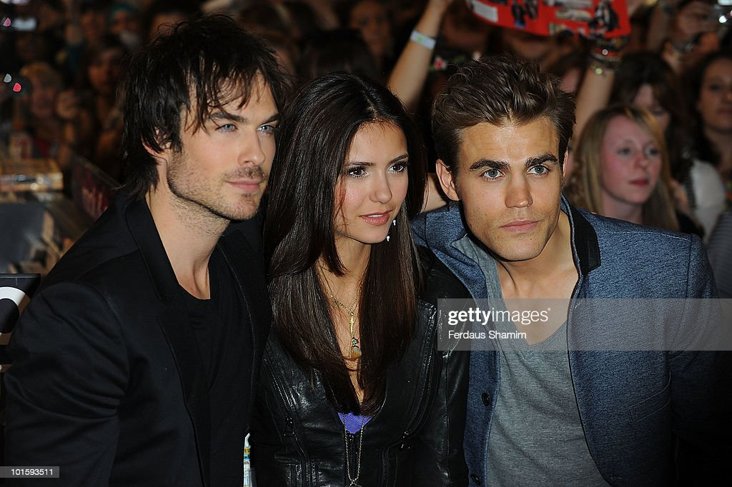 The vampire diaries cast meet fans at hmv photos and images getty ian somerhalder nina dobrev and paul wesley attend a fan meet and greet for the m4hsunfo Image collections