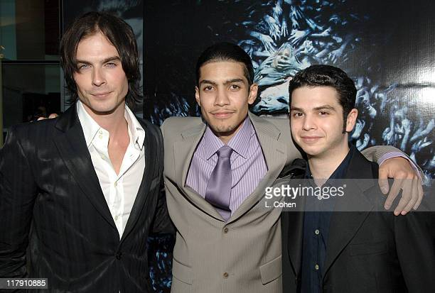 Ian Somerhalder Rick Gonzalez and Samm Levine during 'Pulse' Los Angeles Premiere Red Carpet at Arclight in Hollywood California United States
