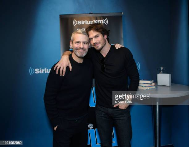 Ian Somerhalder visits 'Radio Andy' with Andy Cohen at the SiriusXM Studios on December 04 2019 in New York City