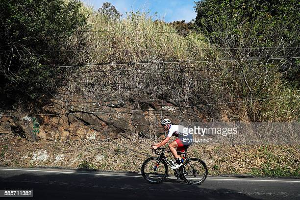 Ian Stannard of Great Britain and Team GB in action during a Team GB training ride on August 3 2016 in Rio de Janeiro Brazil