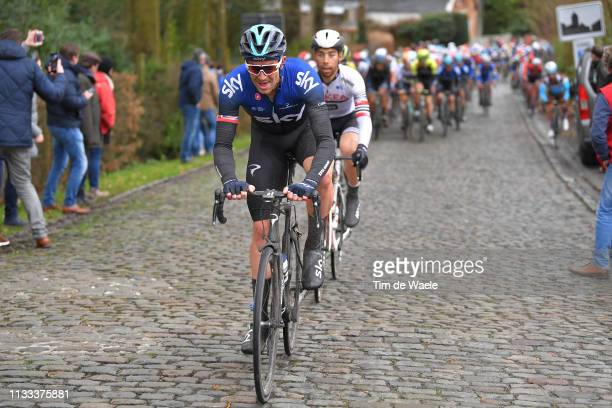 Ian Stannard of Great Britain and Team Sky / Cobblestones / during the 71st KuurneBrusselKuurne 2019 a 2011km race from Kuurne to Kuurne /...