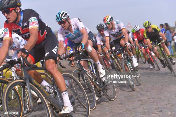 Ian Stannard of Great Britain and Team Sky / during the 116th Paris Roubaix 2018 a 257km race from Compiegne to Roubaix on April 8 2018 in Roubaix...