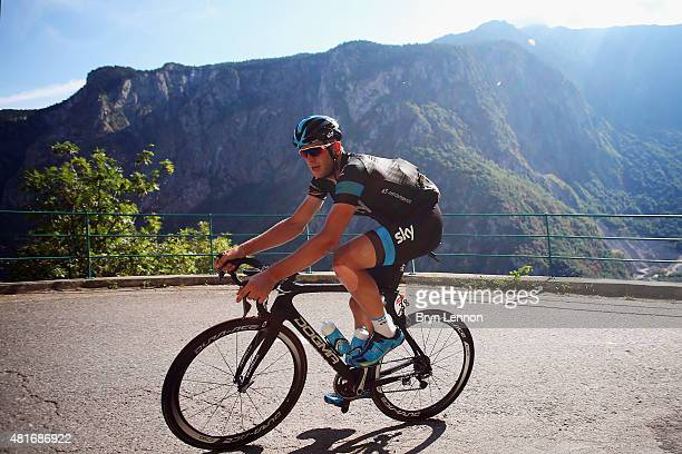 Ian Stannard of Great Britain and Team Sky in action during Stage Eighteen of the 2015 Tour de France a 1865km stage between Gap and...