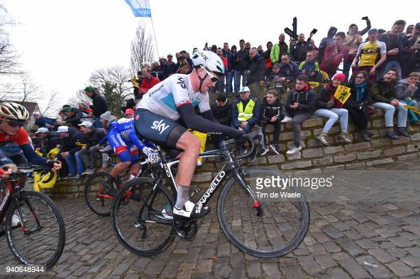 Ian Stannard of Great Britain and Team Sky / Wall of Geraardsbergen / De Muur / Fans / Public / during the 102nd Tour of Flanders 2018 Ronde Van...