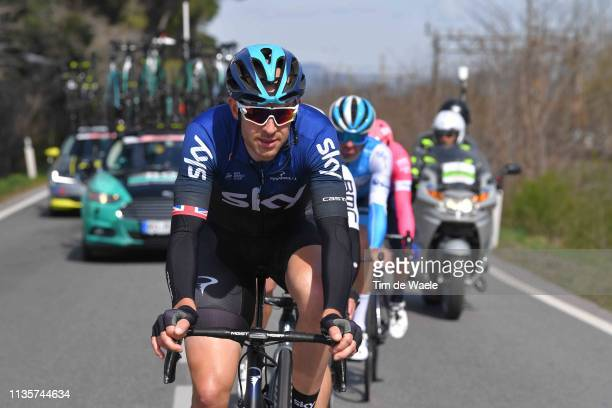 Ian Stannard of he United Kingdom and Team Sky / during the 54th TirrenoAdriatico 2019 Stage 2 a 195km stage from Camaiore to Pomarance 364m /...