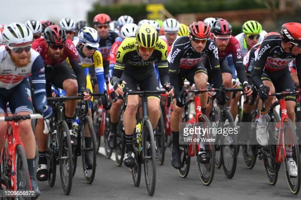 Ian Stannard of The United Kingdom and Team INEOS / Luke Durbridge of Australia and Team MitcheltonScott / Nikolas Maes of Belgium and Team Lotto...