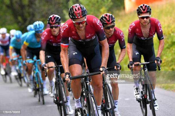 Ian Stannard of The United Kingdom and Team Ineos / Michal Golas of Poland and Team Ineos / Owain Doull of The United Kingdom and Team Ineos / Rohan...