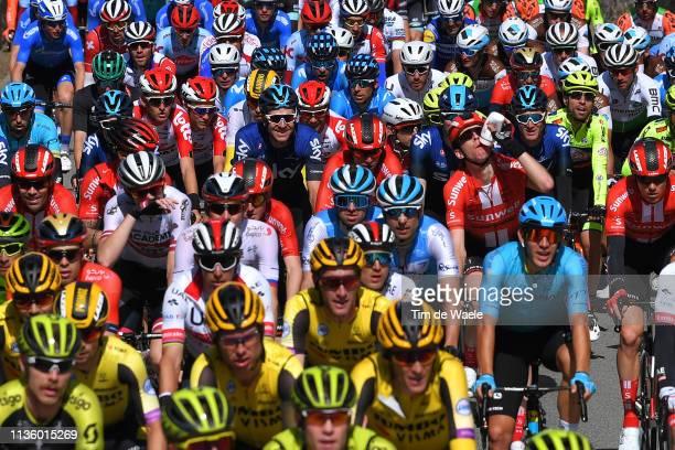 Ian Stannard of the United Kingdom and Team Sky / Tom Dumoulin of The Netherlands and Team Sunweb / Tiesj Benoot of Belgium and Team Lotto Soudal /...