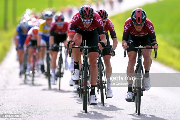 Ian Stannard of United Kingdom and Team INEOS / Michal Golas of Poland and Team INEOS / Vasil Kiryienka of Belarus and Team INEOS / during the 9th...